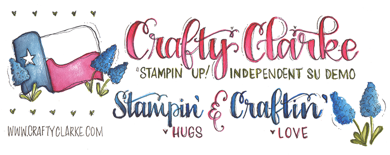 Cindi Clarke, Stampin' Up! Demonstrator - CraftyClarke.com logo